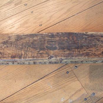 sigarenblok van hout, geassocieerd met de Culemborgse sigarenindustrie