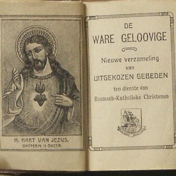 gebedenboek ´De ware geloovige´, afkomstig uit de boerderij op Goilberdingen, 1900-1920