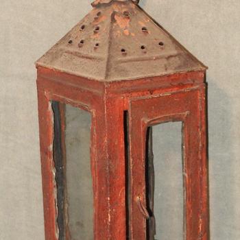 lantaarn van ijzer en glas, gebruikt door de Culemborgse brandweer, 1850-1900