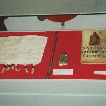 Foto, voorstellende Sint Nicolaas tentoonstelling, Museum Elisabeth Weeshuis, Culemborg,1999