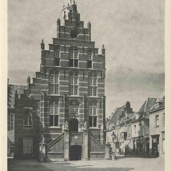 Foto, voorstellende stadhuis te Culemborg, vervaardigd door J.G. van Agtmaal, jaren '40