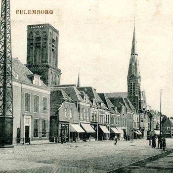 Ansichtkaart, voorstellende de Markt te Culemborg, circa 1917