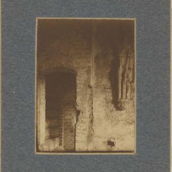 Foto, voorstellende interieur Grote of Barbarakerk te Culemborg, circa 1910
