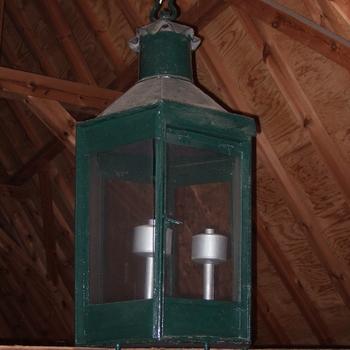 lantaarn van ijzer, groen gelakt, 19e eeuw