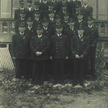 Foto, voorstellende de brandweer te Culemborg, circa 1920