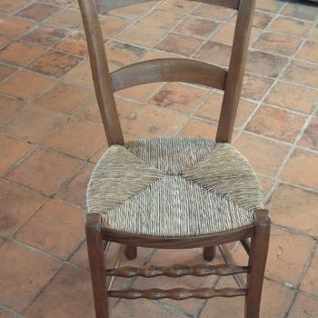 Stoel van hout met biezen zitting, zgn. culemborger, Culemborg, ca1900
