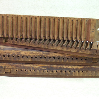 sigarenblok van hout, geassocieerd met Culemborgse sigarenindustrie
