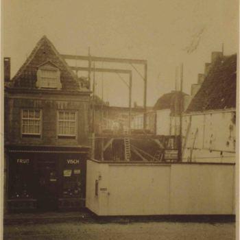 Foto, voorstellende Markt, westzijde, Culemborg, 1936