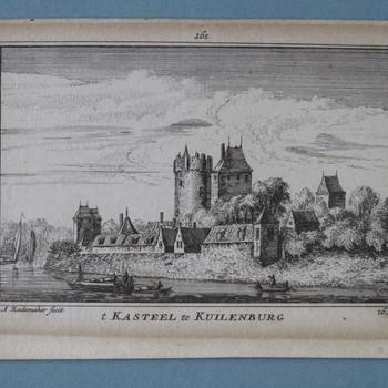 gravure voorstellende het kasteel te Culemborg, vervaardigd door A. Rademaker, ca. 1725