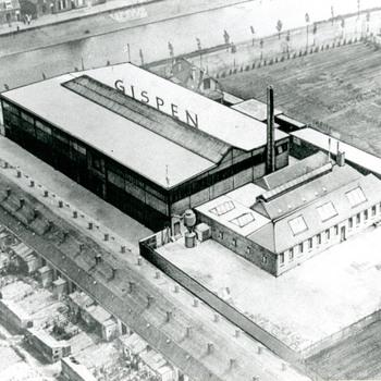 Foto, voorstellende Gispen, Triosingel te Culemborg, 1934