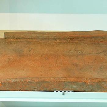 Goottegel van baksteen uit de Romeinse tijd