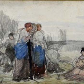 Vrouwen in landschap