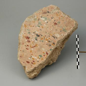 Fragment van muurschildering uit de Romeinse tijd