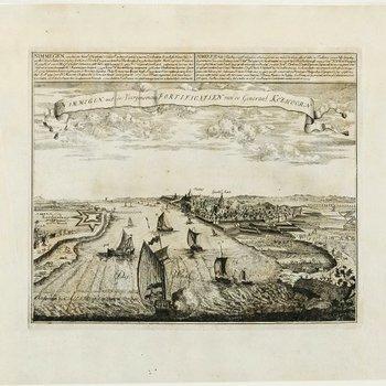 Nijmegen, de Waal en Lent uit het westen