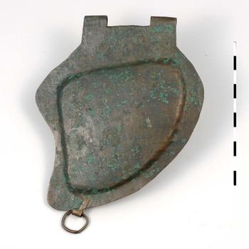 Bronzen wangklep van een Romeinse helm