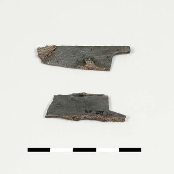 Fragmenten van een schaar van ijzer uit de Romeinse tijd