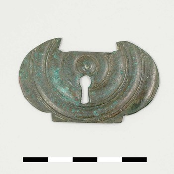 Slotplaat van brons uit de midden Romeinse tijd