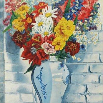 Vaas met bloemen