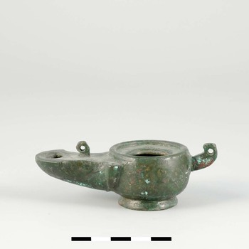 Olielamp van brons uit de Romeinse tijd