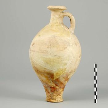 Kruik van gladwandig aardewerk uit de Romeinse tijd