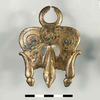Paardentuigversiering van brons uit de Romeinse tijd
