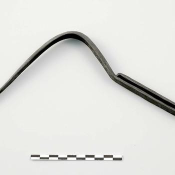 Strigilis van ijzer uit de Romeinse tijd