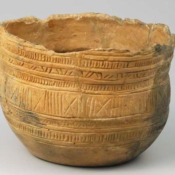 Klokbeker van aardewerk uit het late Neolithicum