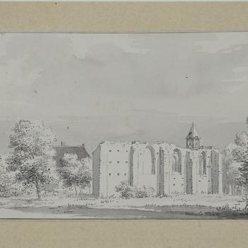 Kerkruïne van Keent bij Nijmegen