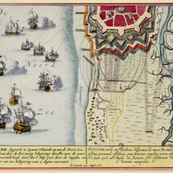 Kaart van Oostende en omgeving