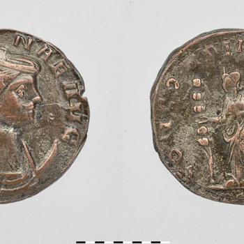 Antoninianus van Severina, munt van zilver uit de Romeinse tijd