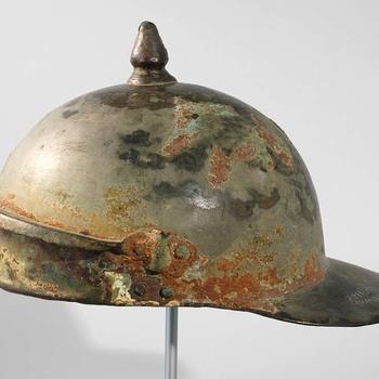 Bronzen helm uit de Romeinse tijd, met inscriptie