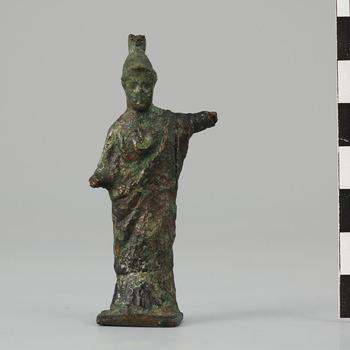 Bronzen beeldje van Minerva, uit de Romeinse tijd