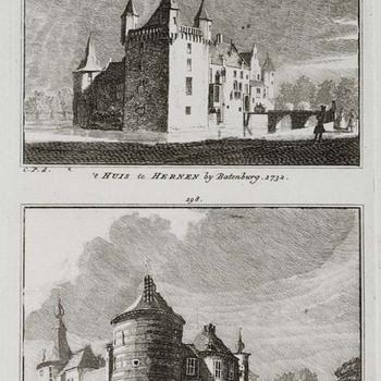 Afbeeldingen van Huis Hernen en van Kasteel Batenburg