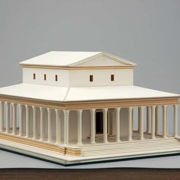 Maquette van de Romeinse tempel van Elst