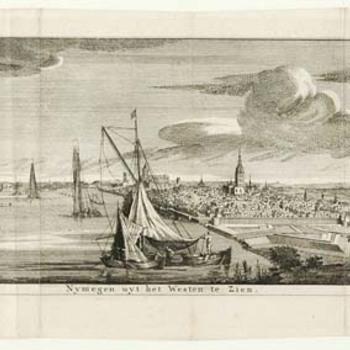 Nijmegen uit het westen gezien
