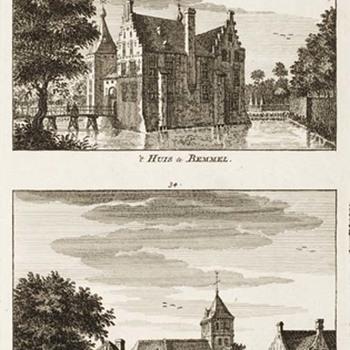 Het kasteel in Bemmel en Het dorp Bemmel