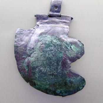 Bronzen wangklep van een Romeinse infanteriehelm