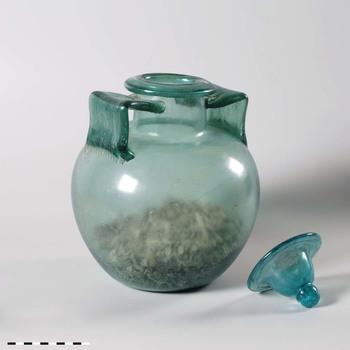 Amfoor van glas uit de midden Romeinse tijd