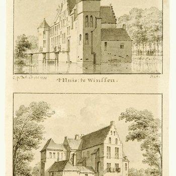 Huis te Winssen, gezicht op de voorzijde en de rechter zijgevel, en op de achterzijde