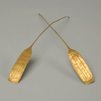 Halsring of een diadeem van goud uit het late Neolithicum
