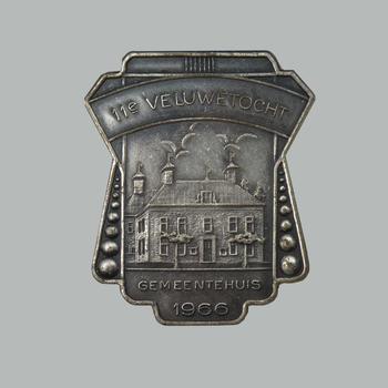 Medaille van de elfde Veluwe Wandeltocht, 1966