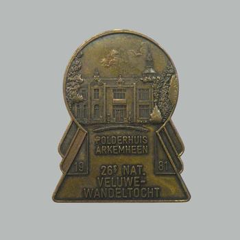 Medaille van de 26e Veluwe Wandeltocht, 1981