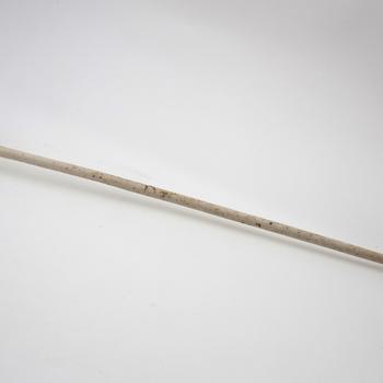 Goudse pijp met ovale ketel, lange steel en hielmerk