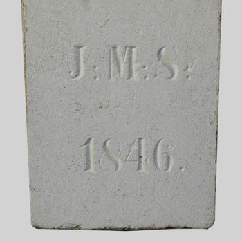 Gevelsteen met het opschrift 'J.M.S. 1846'