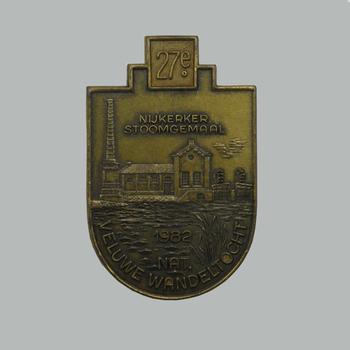 Medaille van de 27e Veluwe Wandeltocht, 1982