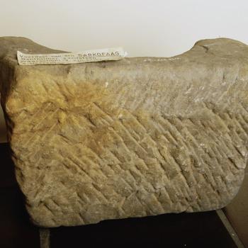 Voetstuk van sarkofaag