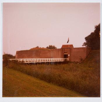 Exterieur bijgebouwen, foto, 1975