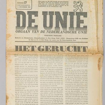 Krant, papier, 1940