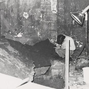 Interieur bijgebouwen, foto, 20ste eeuw