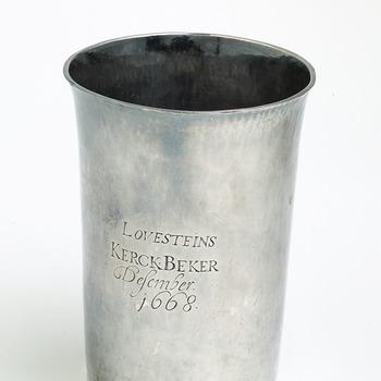 Avondmaalsbeker, zilver, 17de eeuw
